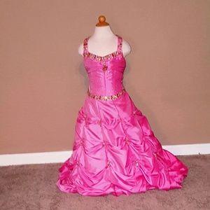 Used pink girls dress